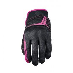 01-img-five-guante-de-moto-rs3-replica-woman-negro-rosa